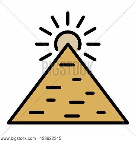 Great Pyramid Icon. Outline Great Pyramid Vector Icon Color Flat Isolated