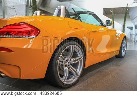 Bmw Z4 Coupe With E89 Body In The Showroom Of The Bmw Museum. Germany, Munich - April 27, 2011