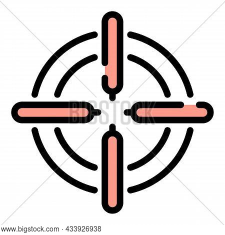 Sight Icon. Outline Sight Vector Icon Color Flat Isolated
