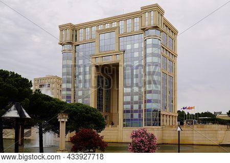 Montpellier , Occitanie  France - 09 05 2021 : Montpellier Occitanie Hotel De Region Facade Building