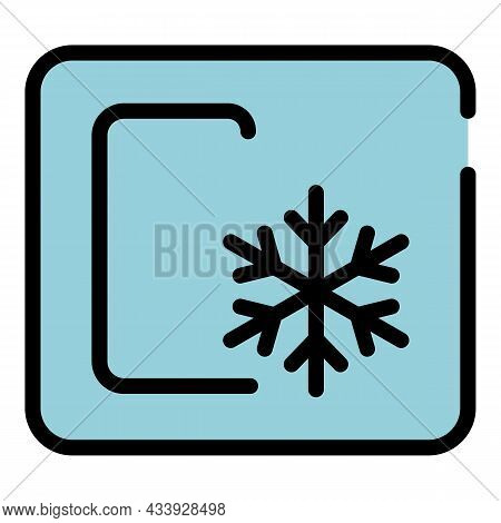 Sign Celsius Snowflake Icon. Outline Sign Celsius Snowflake Vector Icon Color Flat Isolated