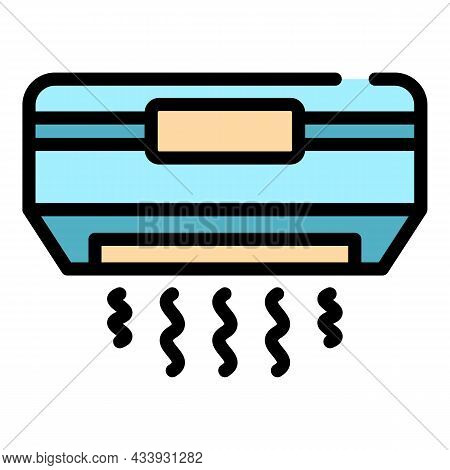 Air Conditioning Icon. Outline Air Conditioning Vector Icon Color Flat Isolated
