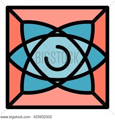 Alchemy Geometric Icon. Outline Alchemy Geometric Vector Icon Color Flat Isolated