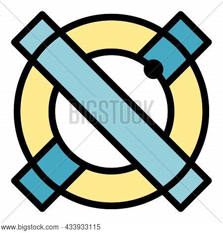 Alchemy Sign Icon. Outline Alchemy Sign Vector Icon Color Flat Isolated