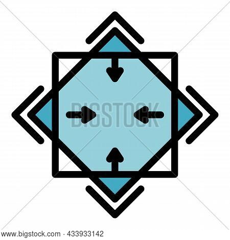 Alchemy Square Icon. Outline Alchemy Square Vector Icon Color Flat Isolated