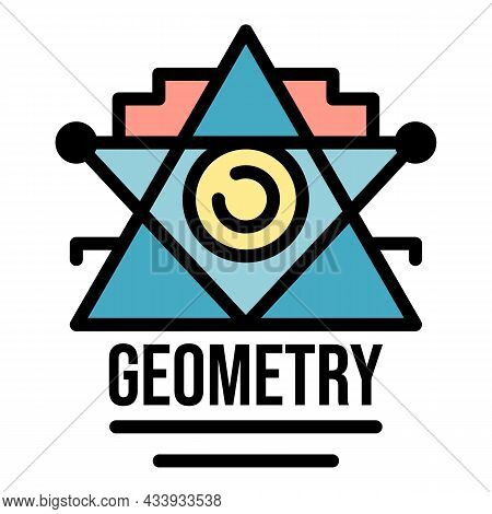 Geometry Alchemy Icon. Outline Geometry Alchemy Vector Icon Color Flat Isolated
