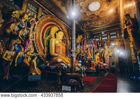 Colombo, Sri Lanka : 11/august/2019 : The Beautiful Buddha Statue Inside Of Gangaramaya Temple One O