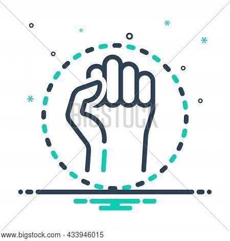 Mix Icon For Resistance Resist Protest Opposition Aggressive Antagonism Struggle Battle Defiance Fig