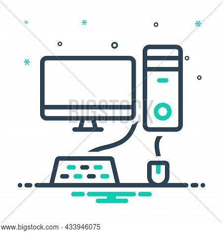 Mix Icon For Computer Monitor Necessarily Pc Mouse Keyboard Basis Device Technology Accordingly Cons