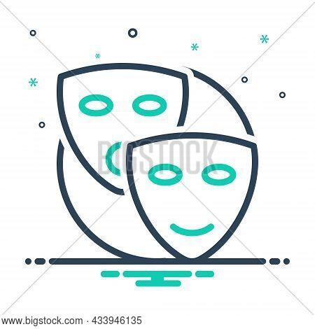 Mix Icon For Pretend Mask Drama Dramatics Profess Feign Dissemble Put-on Assume Belie