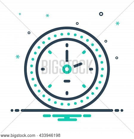 Mix Icon For Clock Watch Timer Timepiece Horologe Alarm Time Analog Countdown
