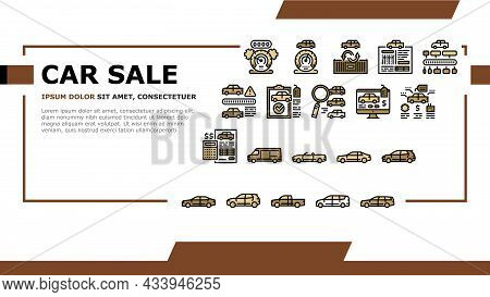 Used Car Sale Automobile Service Landing Web Page Header Banner Template Vector. Used Car Import And