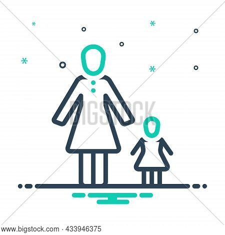 Mix Icon For Mother Mum Mama Ma Mummy Momma Progenitress Female-parent Daughter
