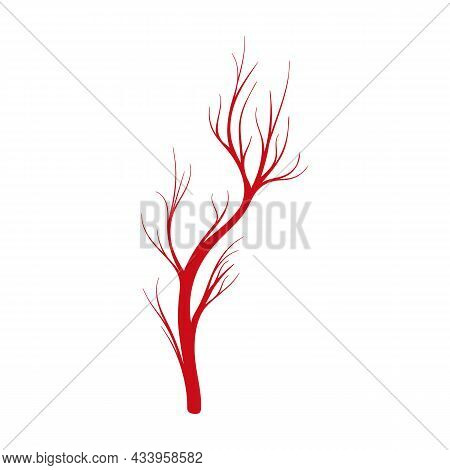 Vein Of Human Vector Cartoon Icon. Vector Illustration Artery Of Blood On White Background. Isolated