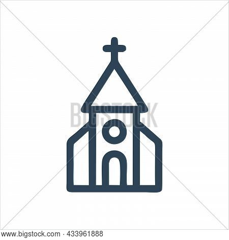 Church Icon Isolated On White Background. Church Symbol For Logo, Web, App, Ui. Church Icon Simple S