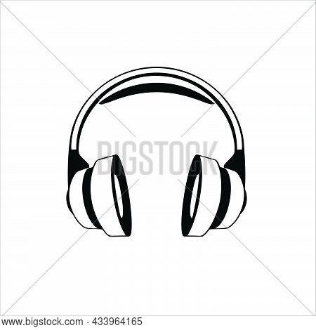 Headset Icon Isolated On White Background. Headset Symbol For Logo, Web, App, Ui. Headset Icon Simpl