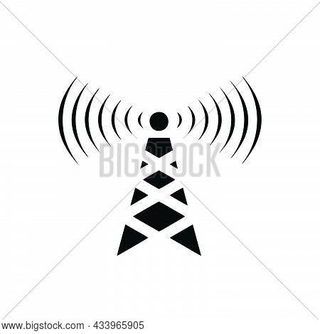 Transmitter Icon Isolated On White Background From Communication Collection. Transmitter Icon Trendy