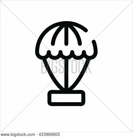 Parachute Icon Isolated On White Background.  Parachute Symbol For Logo. Parachute Icon Simple Sign.