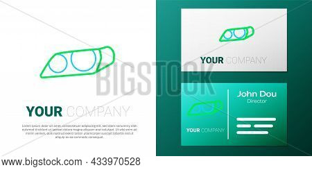 Line Car Headlight Icon Isolated On White Background. Colorful Outline Concept. Vector