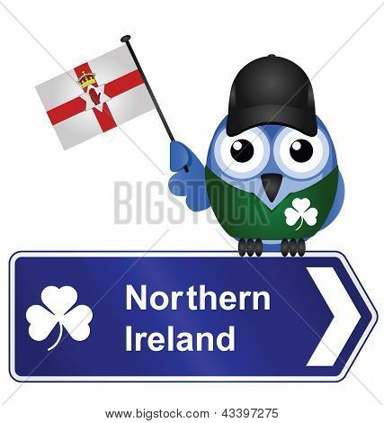 Country sign northern Ireland