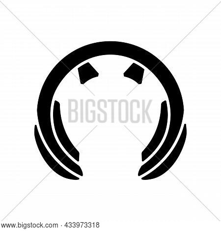 Neck Massage Tool Black Glyph Icon. Device For Stimulating Neck, Shoulders. Relaxation And Recreatio