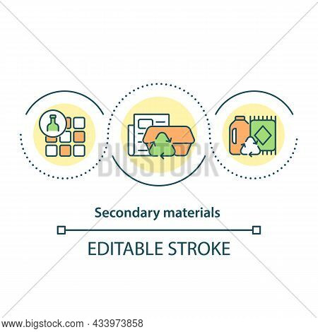 Secondary Materials Concept Icon. Waste Upcycling. Sustainable Use Of Resources, Materials Abstract