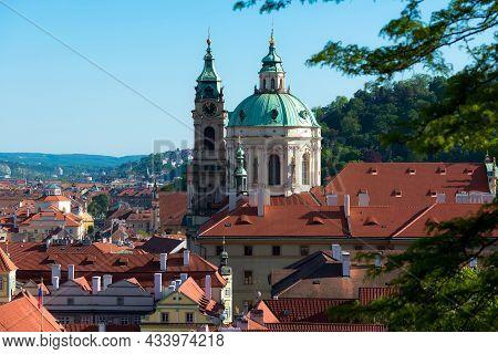 The Church Of Saint Nicholas (mala Strana). Baroque Church In The Lesser Town Of Prague. Czech Repub