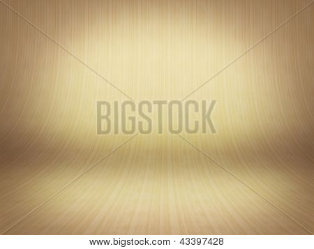 Realistic 3D Presentation Empty Room - Wood Parket Background Texture
