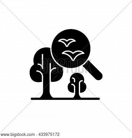 Environmental Science Black Glyph Icon. Current Environmental Problems, Natural World Study. Environ