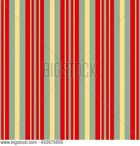 Regent Stripe Seamless Vector Pattern Background. Symmetrical Linear Geometric Backdrop. Red, Yellow