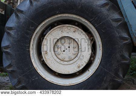 Very Old Wheel Rim Of The Same Old Working Tractor, Greece, Halkidiki, Arnaia
