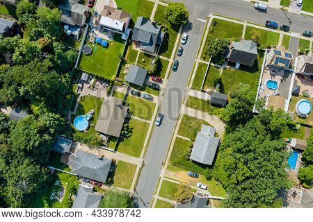 Aerial View Of Small Streets Residential Area A Small Town In Sayreville New Jersey Usa