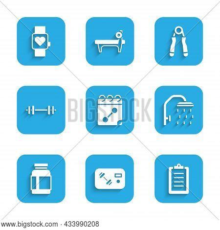 Set Calendar Fitness, Fitness Club, Gym Card, Sport Training Program, Shower Head, Sports Nutrition,