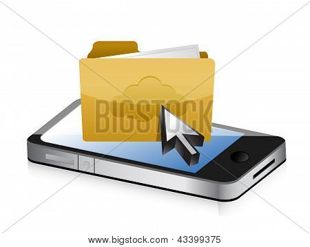 Mobile Phone And Folder