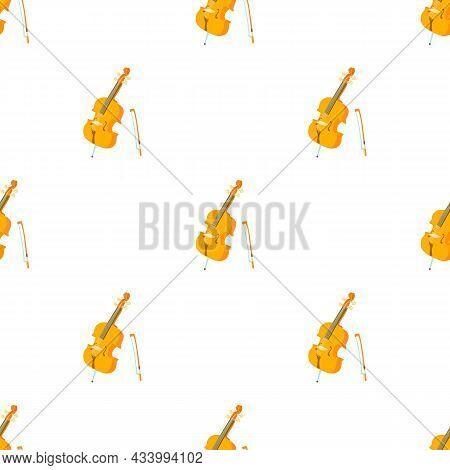 Violin Pattern Seamless Background Texture Repeat Wallpaper Geometric Vector