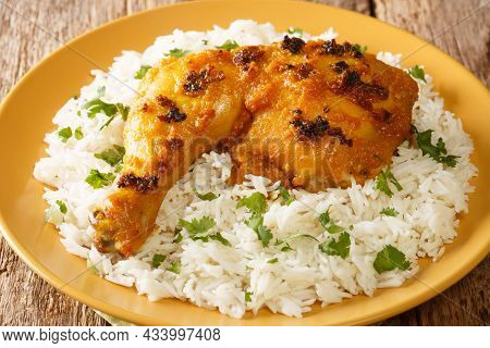 Malaysian Ayam Percik Or Roasted Spiced Chicken Is A Grilled Chicken Dish That Is Cooked With Rich C