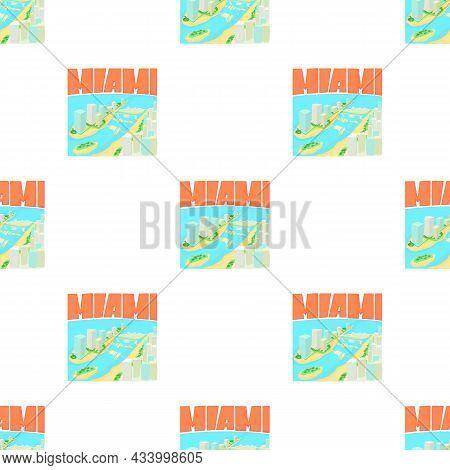 Miami City Concept. Cartoon Illustration Of Miami City Vector Concept For Web