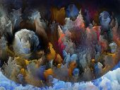 Artistic background made of colorful fractal turbulence for use with projects on fantasy dreams creativity imagination and art poster
