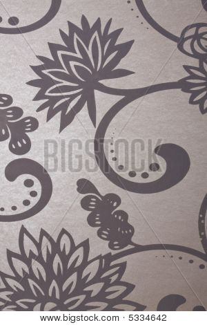 Floral Metallic Background