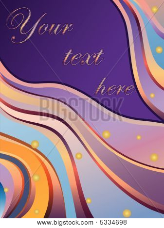 Vector Illustration Of Realistic  Abstract Fantasy Background
