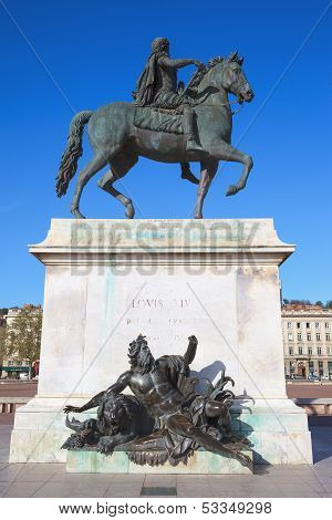Famous Equestrian Statue Of Louis Xiv