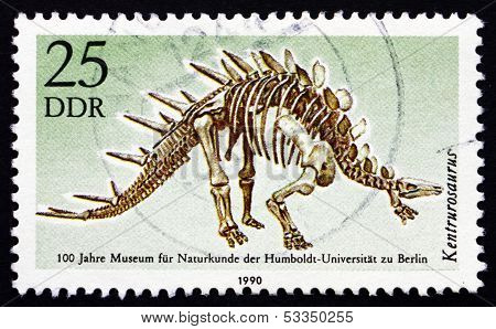 Postage Stamp Gdr 1990 Kentrurosaurus, Dinosaur, Extinct Animal