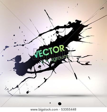 Abstract Grunge Background for Modern Design, Splatter Texture Vector
