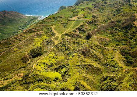 Green Hills Of Molokai Island
