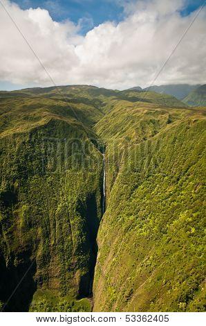 Kahiwa Falls Of Molokai Island