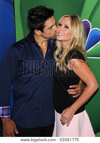 LOS ANGELES - AUG 27:  Tamra Barney & Eddie Judge arrives to NBC All Star Summer TCA Party 2013  on July 27, 2013 in Beverly Hills, CA