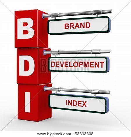 3D Modern Signboard Of Bdi