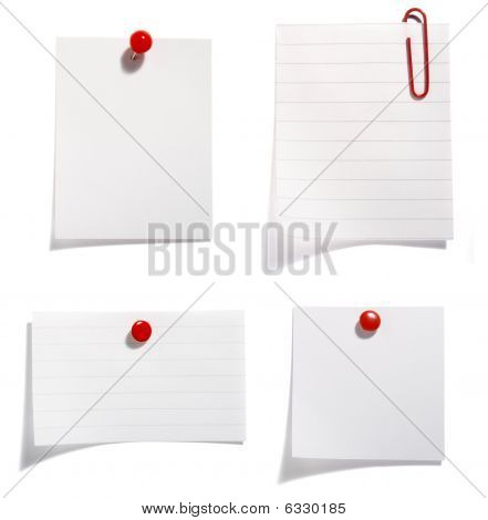 Paper With Red Clip