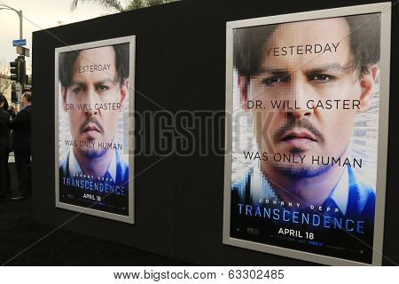 LOS ANGELES - APR 10:  Transcendence Poster at the