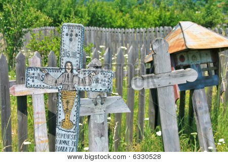 Ancient Christian crosses, Valcea country (Romania)